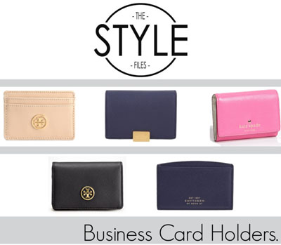 The style files business card holders female entrepreneur these chic little card holders will look extremely cute at any meeting or networking event you attend and they will also keep your business cards looking reheart Choice Image