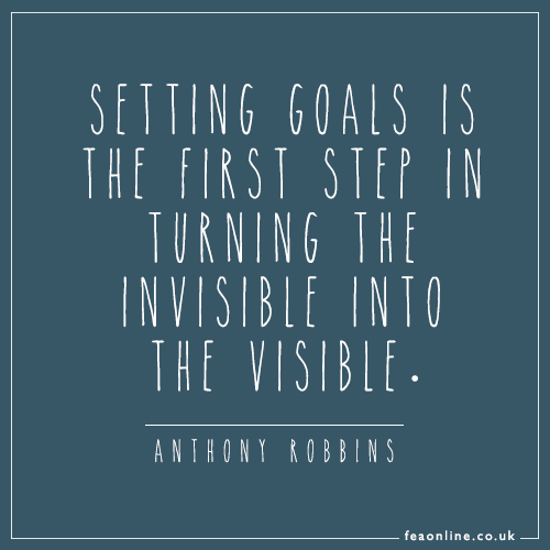 Make sure you set yourself goals