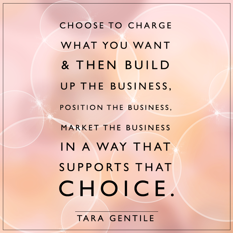 Choose to charge what you want