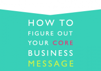 How to figure out your core business message