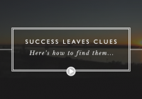 Success Leaves Clues… here's how to find them