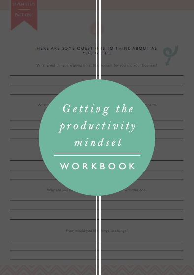 PRODUCTIVITY MINDSET WORKBOOK