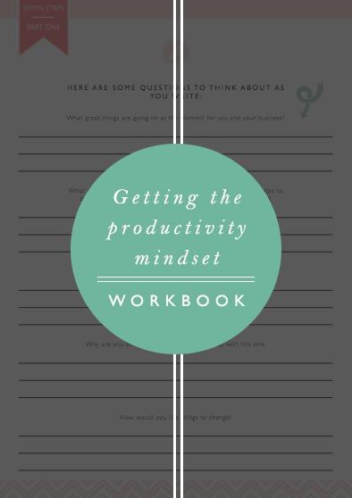 PRODUCTIVITY MINDSET WORKBOOK