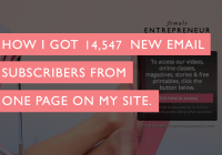 How I Got 14,547 New Email Subscribers From One Page On My Site