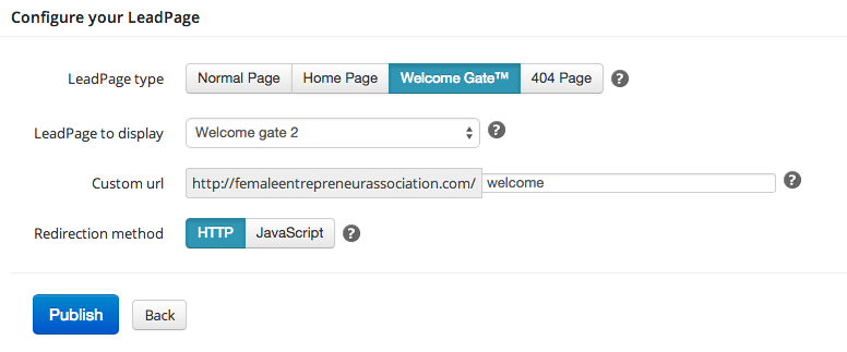 Creating a welcome gate using LeadPages