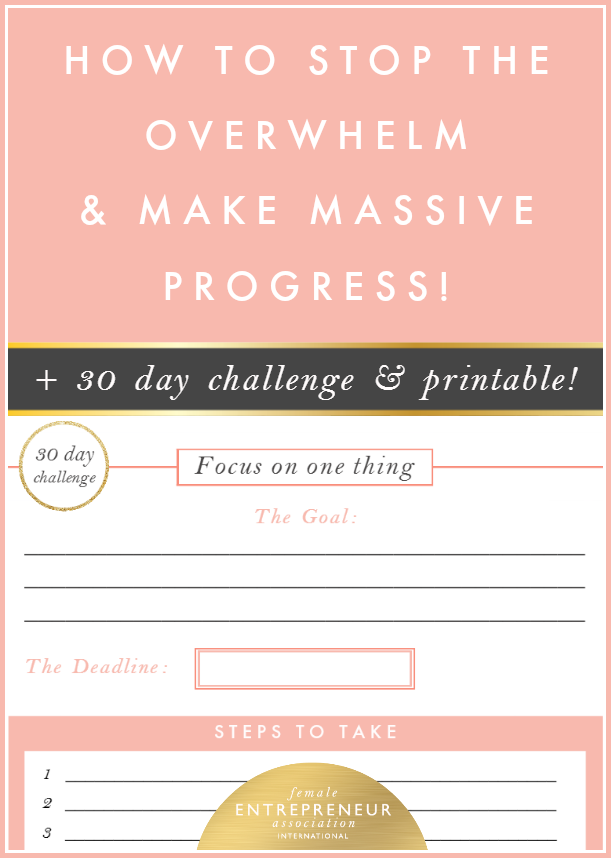 I want to share a strategy with you, which helped me so much to overcome overwhelm and to actually make massive progress and complete projects so much faster!