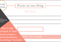 Free challenge & printable // How to make massive progress!