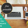 3 Tools To Save You Massive Amounts of Time + Free Printable
