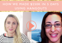 How we made $250k in 5 days using Hangouts
