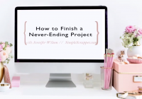 How to Finish a Never-Ending Project