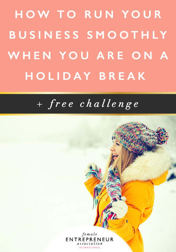 So with the holidays coming up, most of us are going to be taking a break from our businesses, but the question is, can your business run smoothly when you take a break? Or do you just feel panicked by the idea and feel like you can't take time off?