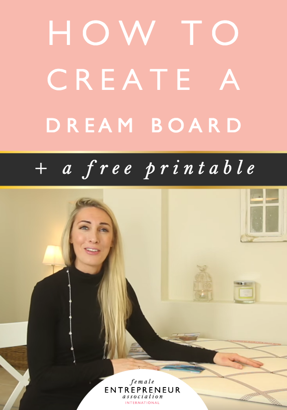 When we feel so many different emotions it's easy to disconnect and fall out of alignment with our goals and that's why I love dream boards so much, because they keep your dreams front and centre for you to see every single day, which helps you to stay connected.