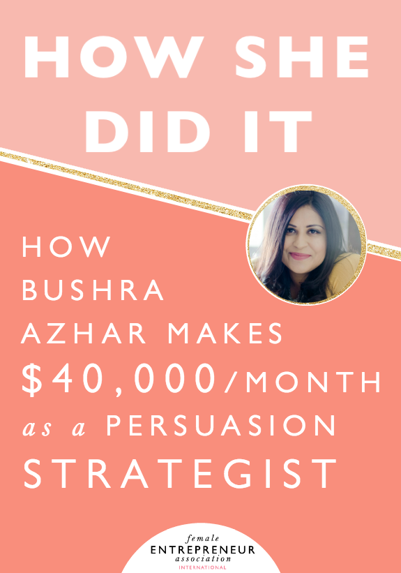 Bushra Azhar started her business in July 2014 and in less than two years, she has created a business that brings in $40,000 per month and it's still her part-time gig. Learn how she did it!