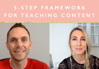5 Step Framework For Teaching Content