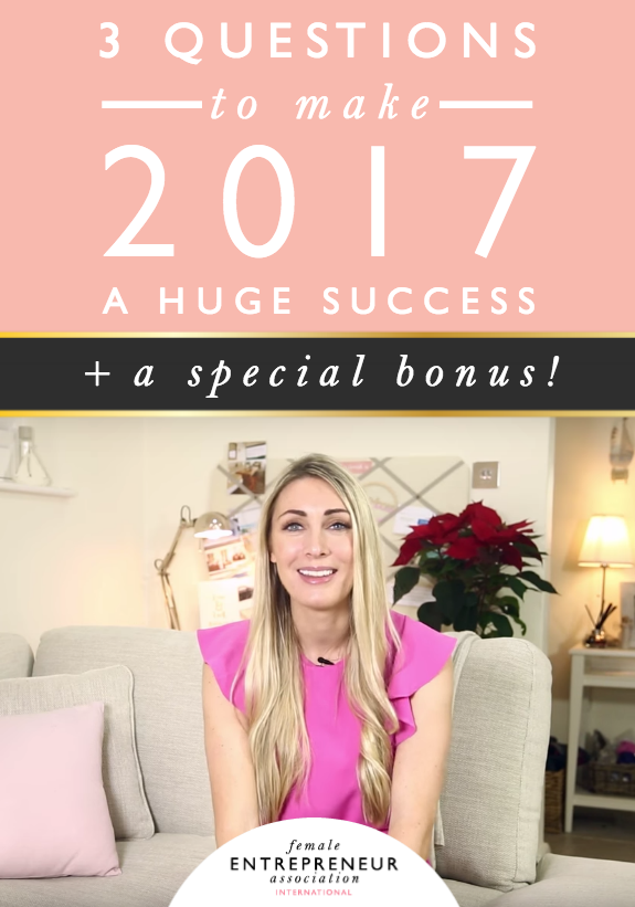 I love setting my goals and mapping out the year ahead. It makes me feel so excited and inspired. There are always 3 questions I ask myself to make sure I do all I can to make my year ahead incredible, so I decided to make a video and share the questions with you :)