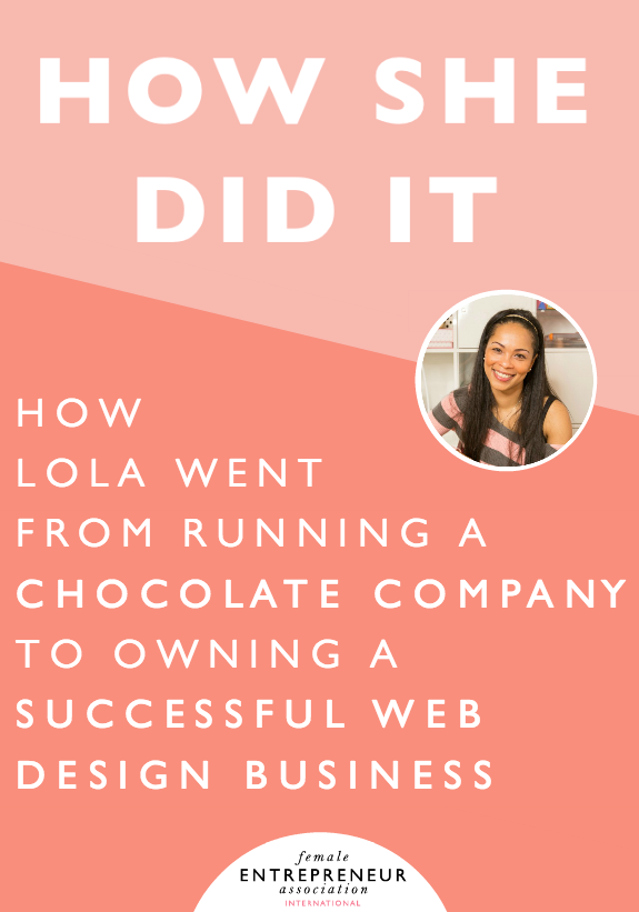 As a serial entrepreneur, Lola's first business was a chocolate company where she hand-made all of her chocolates. She then started Barter Entrepreneur on the back of Chicks Who Code (her web design/development company), which is a free online platform for start-up businesses and entrepreneurs to swap skills with each other without having to exchange money. Barter Entrepreneur went on to win some awards as well as get published in the papers.