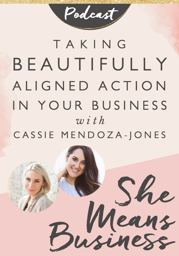 "In this episode of the She Means Business podcast, I interviewed Cassie Mendoza-Jones - kinesiologist, naturopath and author of You Are Enough. Cassie's story shows us how progress toward the life and business of our dreams often involves knowing when to stop pushing and actually surrender and let ""the flow"" assist us in taking beautifully aligned action."