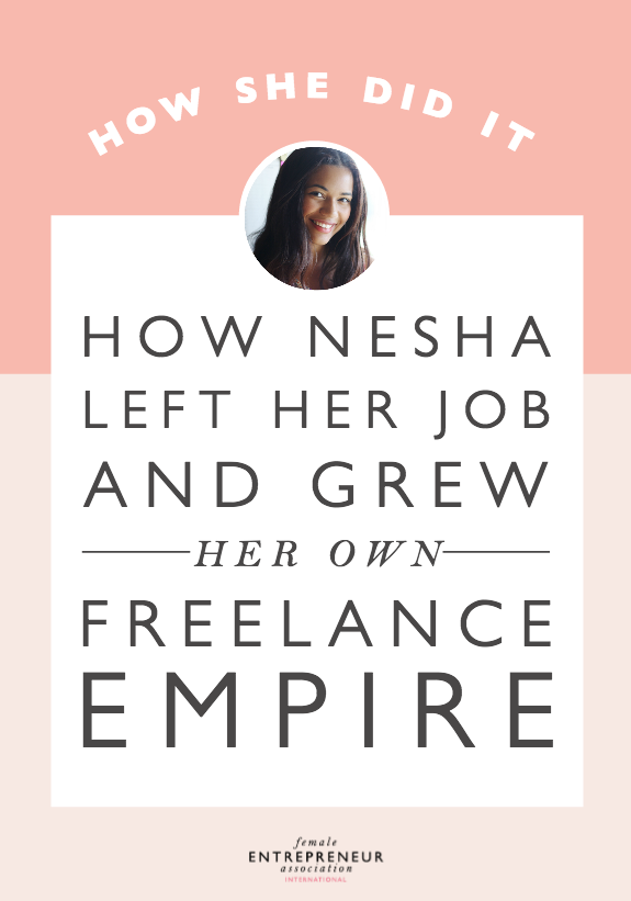Nesha's business has evolved dramatically since she started it five years ago. She grew her design business to the point where she no longer charged £50 for a a web design, she charged £4000. Then, she decided to take on less design work and focus more on teaching other designers. Nowadays, she creates courses and ebooks that have helped over 2000 freelance designers to streamline their businesses, find more clients, and get booked out!