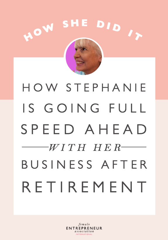 "Stephanie started her business in 2005 as a yoga teacher and Thai massage practitioner. She shares that it's taken her awhile to get to where she is today because she felt she needed to have a ""regular"" job with a salary. Now, she's retiring after 25 years and is going full speed ahead to make her business a success!"