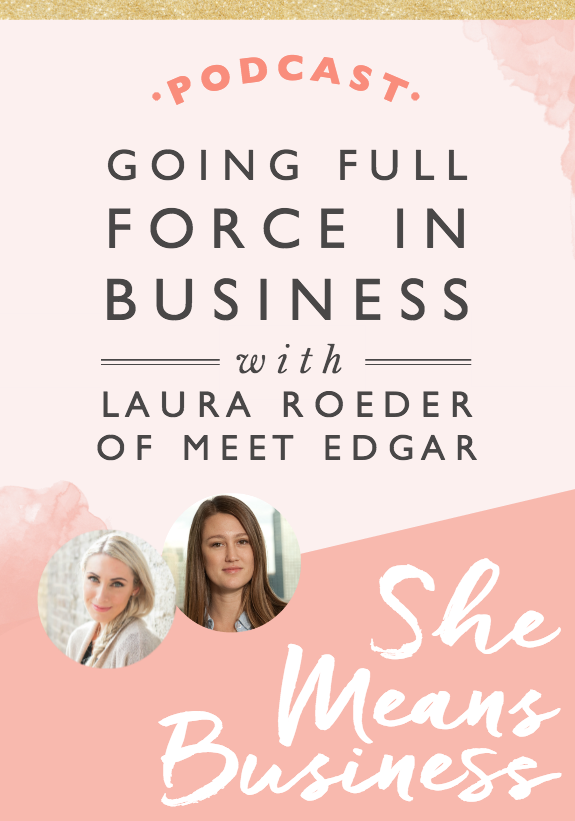In this episode I was joined by the amazing Laura Roeder. She's the founder of MeetEdgar.com, a social media automation platform. We talk all about how she went from quitting her job as a graphic designer at 22 to starting her own business, discovering the information marketing world, creating B-School with Marie Forleo to then launching Edgar, which in 3 years, generates $4 million in revenue. It's incredible. This is such an inspiring interview. I hope you love it just as much as I do.