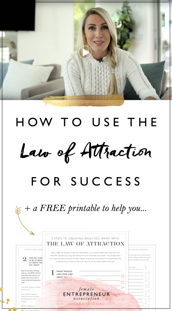 I made this video for you to learn how to use the law of attraction to make a few simple shifts in your mindset that can change everything.