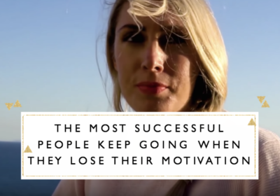 The Most Successful People Keep Going When They Lose Their Motivation