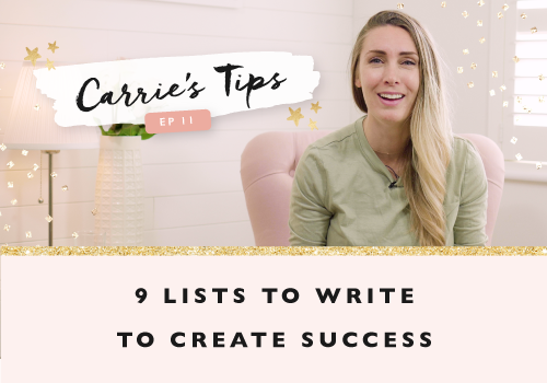 Nine Lists To Write To Create Success