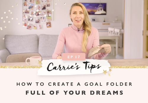 How To Create A Goal Folder Full Of Your Dreams