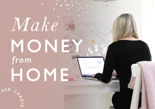 Ask Carrie: How To Come Up With A Business Idea That You Can Start From Home