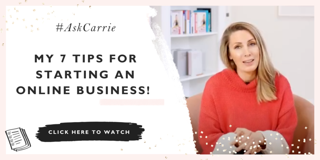 Carrie talking about coming up with business ideas
